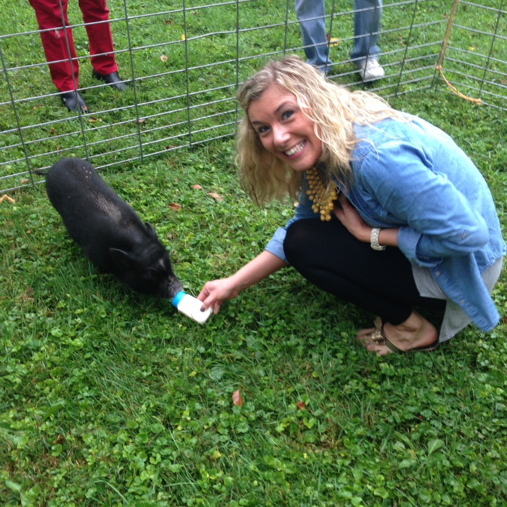 Megan with Pig
