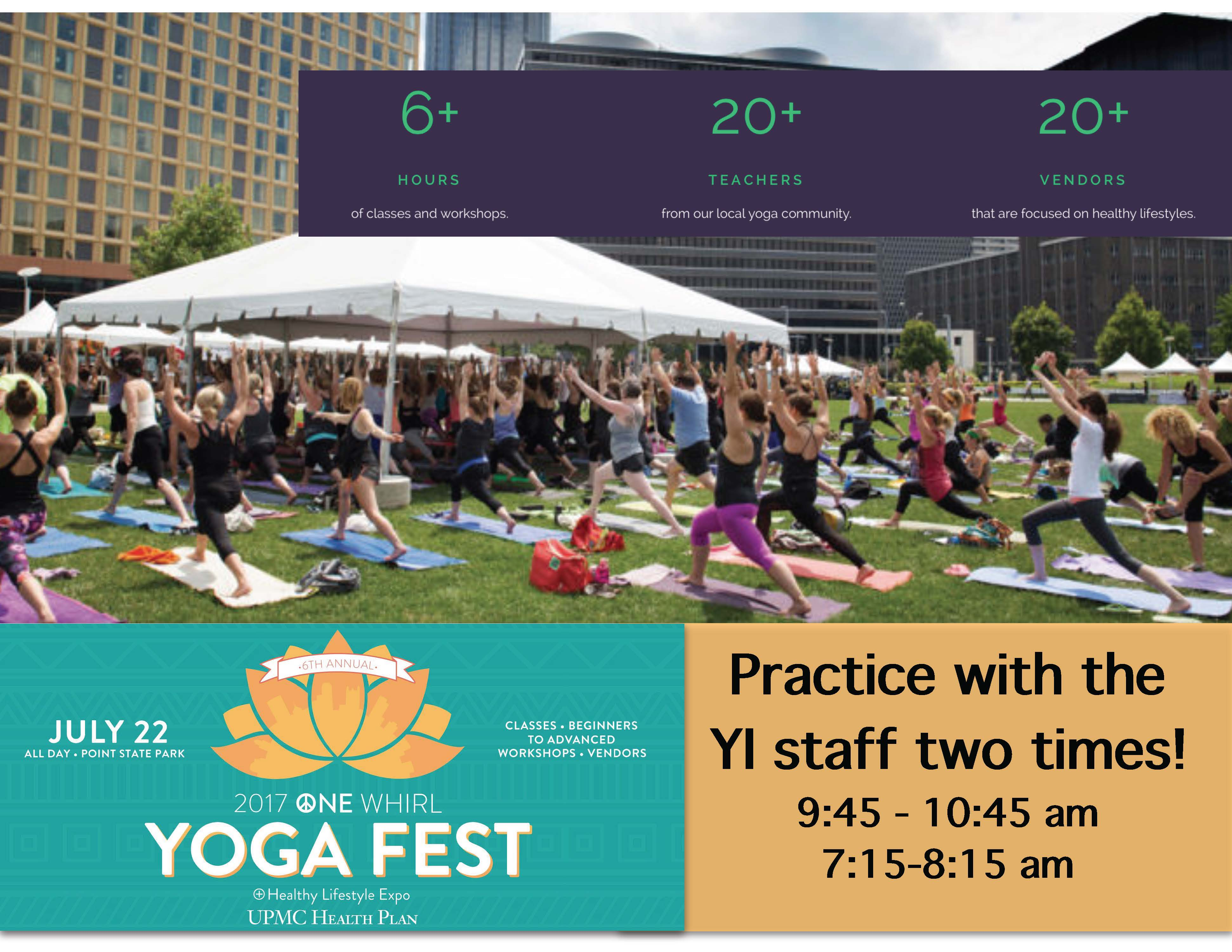 Yoga Fest: 2017 One Whirl Healthy Lifestyle Expo